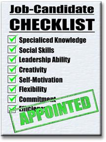 Job candidate checklist