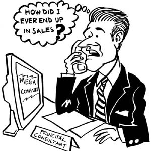 Sales person in wrong job