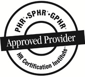 HRCI approved provider for continuing education credits