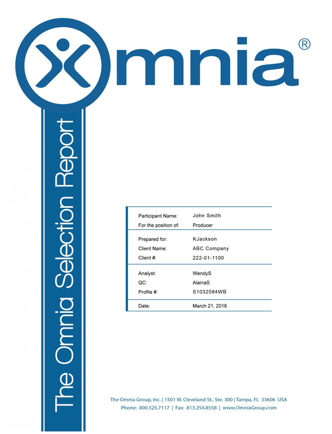 The Omnia Selection Report Small Image
